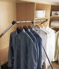 Colgador extraible. Colocando dos barras aprovechará mayor espacio con la mayor calidad. Para su vestidor a medida en Barcelona.