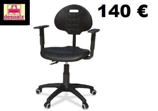 silla industrial con brazos. silla laboratorios, silla talleres