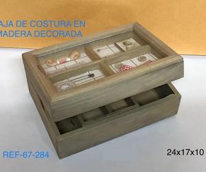 COSTURERO MADERA NT C/ DECORACIÓN 24X17X10