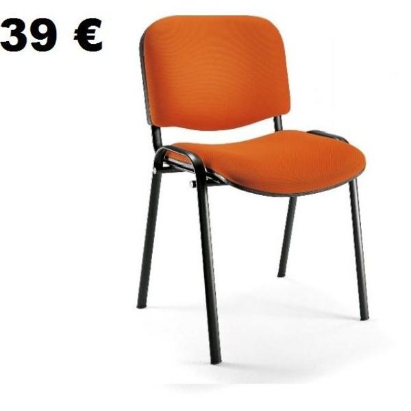 silla fija , apilable y económica. Tapizable en varios acabados