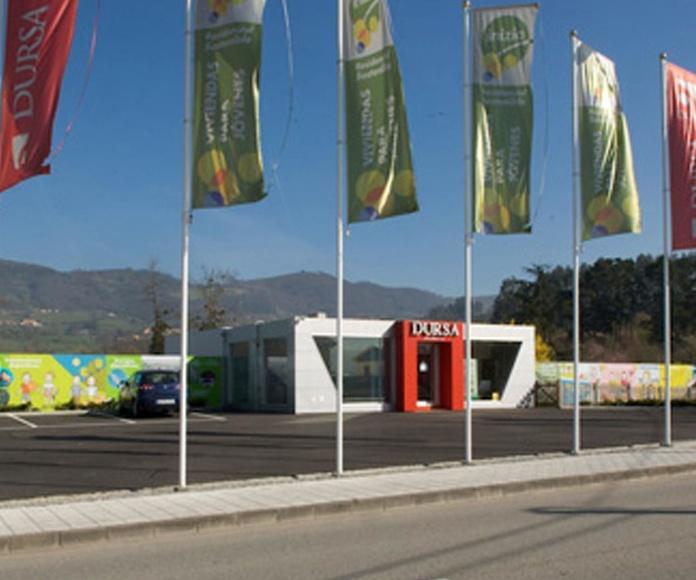banderas con mástil . -  Asturias