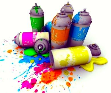 Sprays de colores.