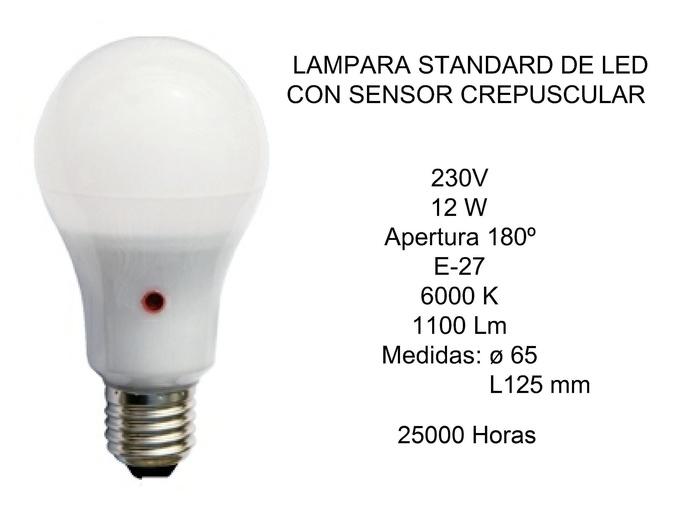 LAMPARA SENSOR CREPUSCULAR