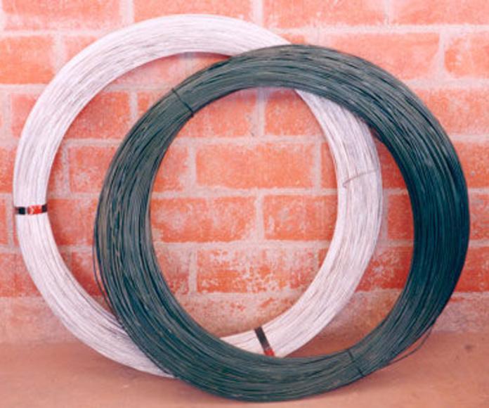 Alambre galvanizado y plastificado: Cerramientos Portillo de Ferretería y Mallas Portillo