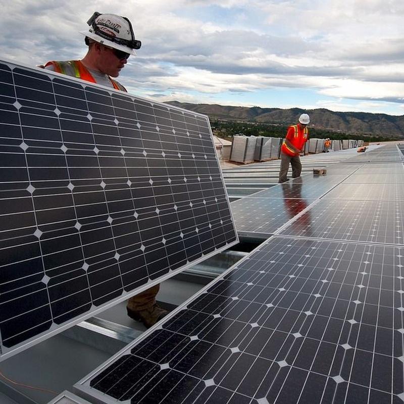 Placas solares : Servicios  of Fontanería Marco Más, S. L.