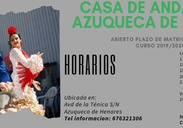 Casa de Andalucía Azuqueca de Henares 2019-2020