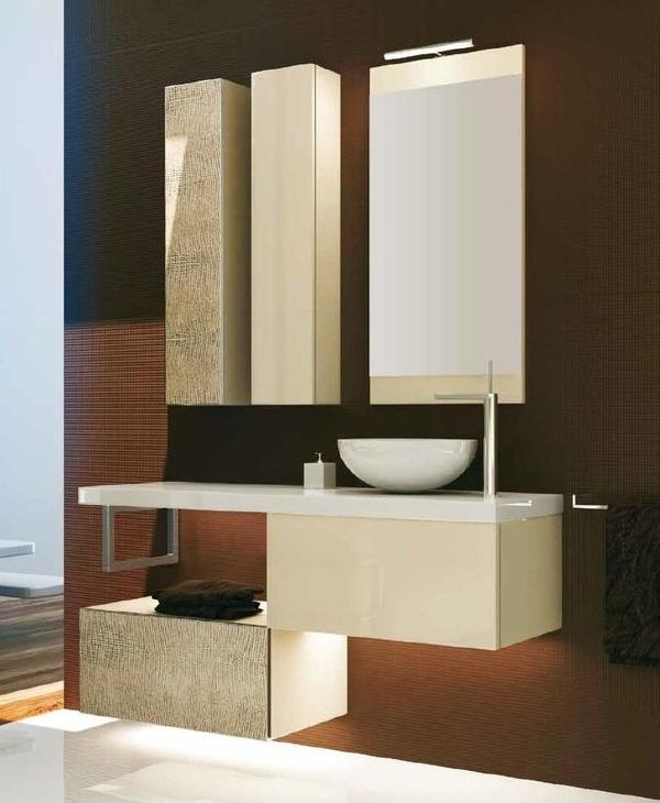 Mueble Modular Complet C10 de 2 cajones 120, laca + piel y apertura push