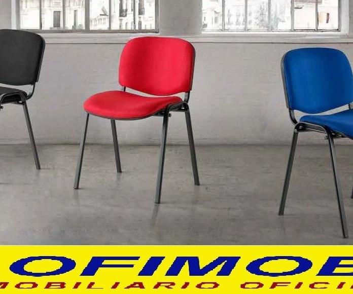 Silla Iso tapizada 3 colores negro, rojo y azul 29€/ud