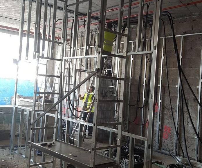 Obras en el Centro comercial Alisios