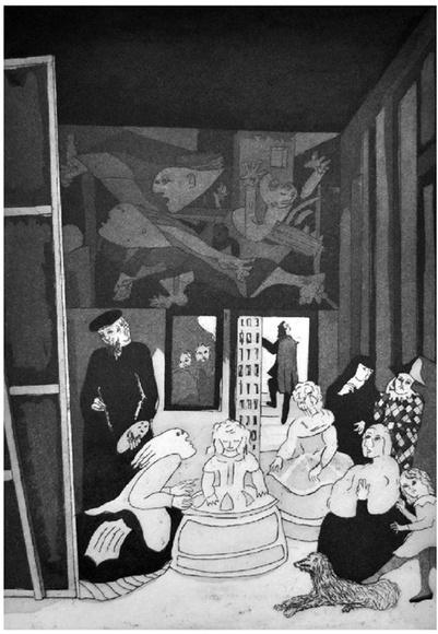 Grabado Homenaje a Picasso