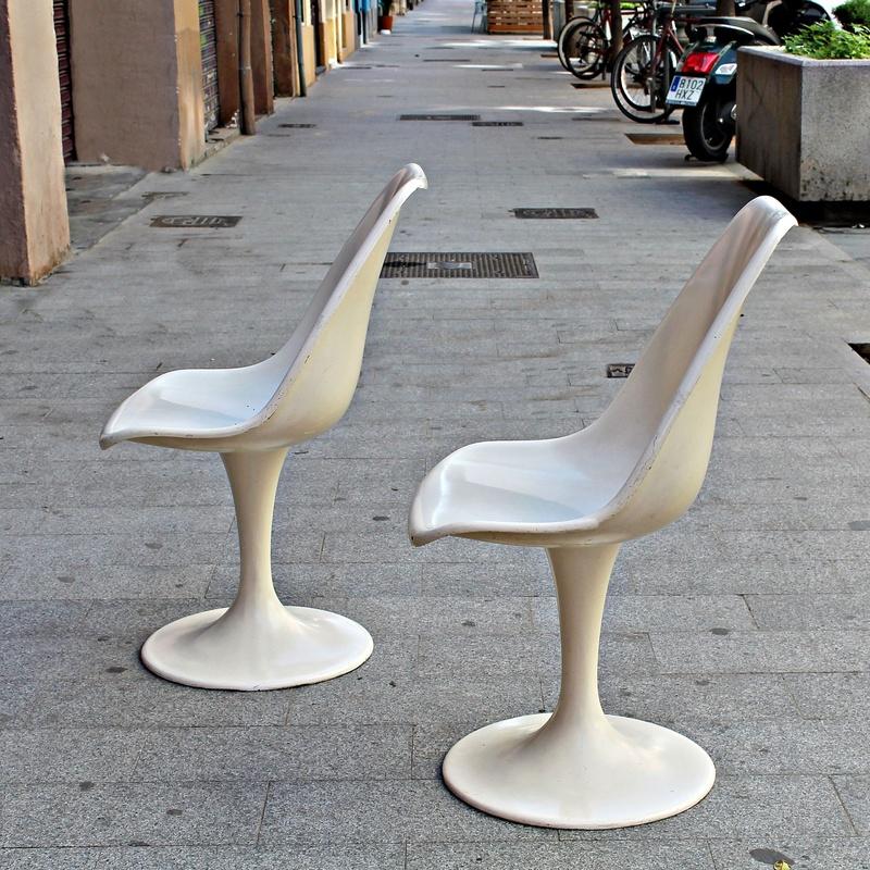 Pareja de sillas TULIP años 60: Artículos  de Ruzafa Vintage