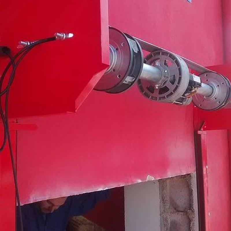 Motor Centro-Eje para enrrollables de seguridad.
