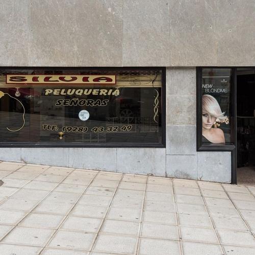 Fachada de la peluquería Silvia en Las Palmas de Gran Canaria