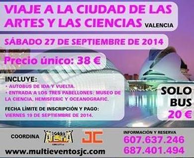 Oferta viaje a la Ciudad de las Artes y las Ciencias de Valencia desde Murcia