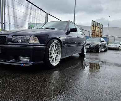 BMW E36 325tds Touring - BCRacing coilovers & Japan Racing JR26