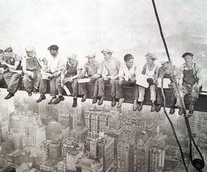 fotografia antigua de construccion