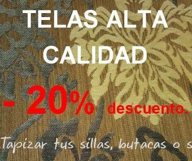 ¡Telas Alta Calidad -20% de descuento!