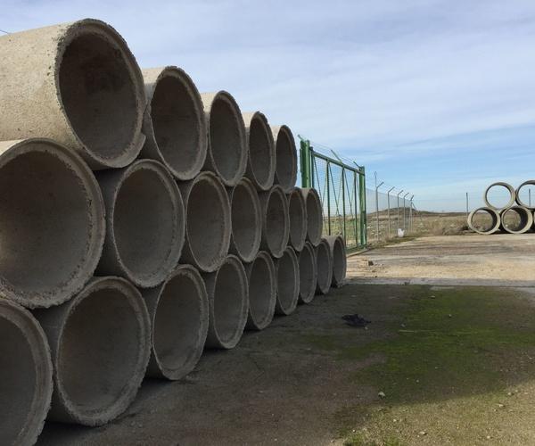 Tuberías de hormigón para canalizaciones y saneamientos en Extremadura
