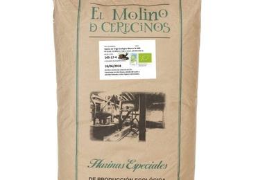 Harina de trigo ecológica blanca W-300 25 kg