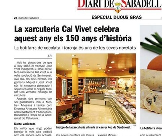 Butifarra de manzana al curry: Catálogo de Carnisseria-Xarcuteria Cal Vivet