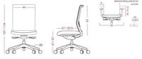 Silla ergonómica NOVA de gran comodidad y confort.Dimensiones de la silla.