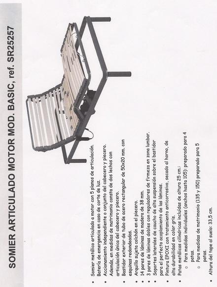 SOMIER ARTICULADO MOTOR: Pikolín de Colchones y Muebles Agustín Morro