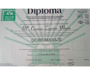 Titulación para quiromasaje