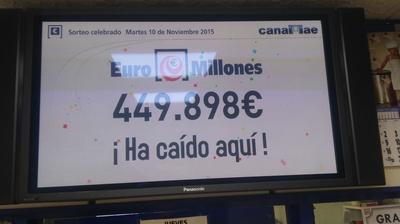 Euromillón: Administración de Lotería Nº 77 La Valvanera