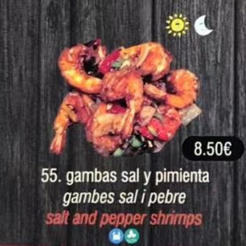 Gambas sal y pimienta: Carta de Sushi Time Buffet Libre