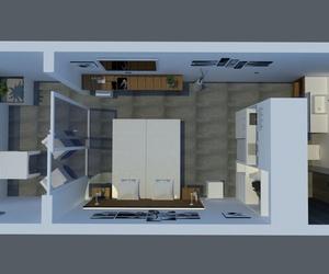 Adecuación de habitación de apartamentos. Infografía.