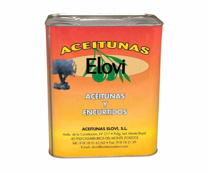 Aceitunas Negras Lata de 5 Kgs. Marca ELOVI