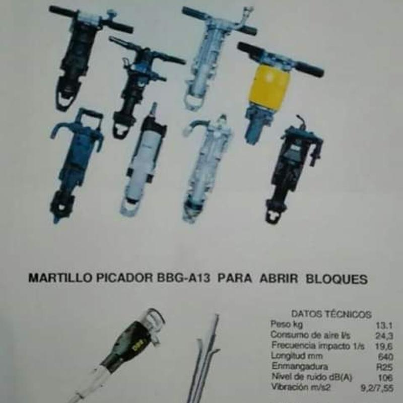 Herramientas de perforación para canteras y construcción: Suministros de Suministros Arturo García