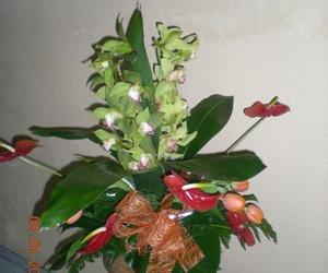 centro orquidea y anturium
