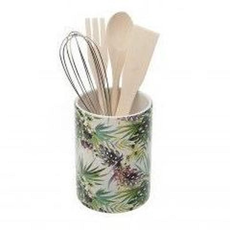 Bote de utensilios de cocina Colección tropical