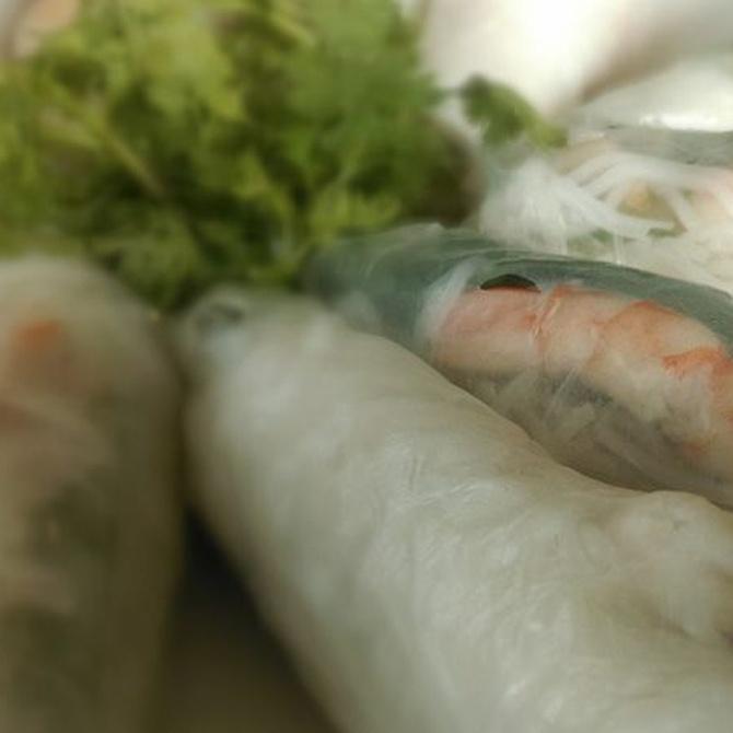 Rollitos de primavera, un clásico de la comida china
