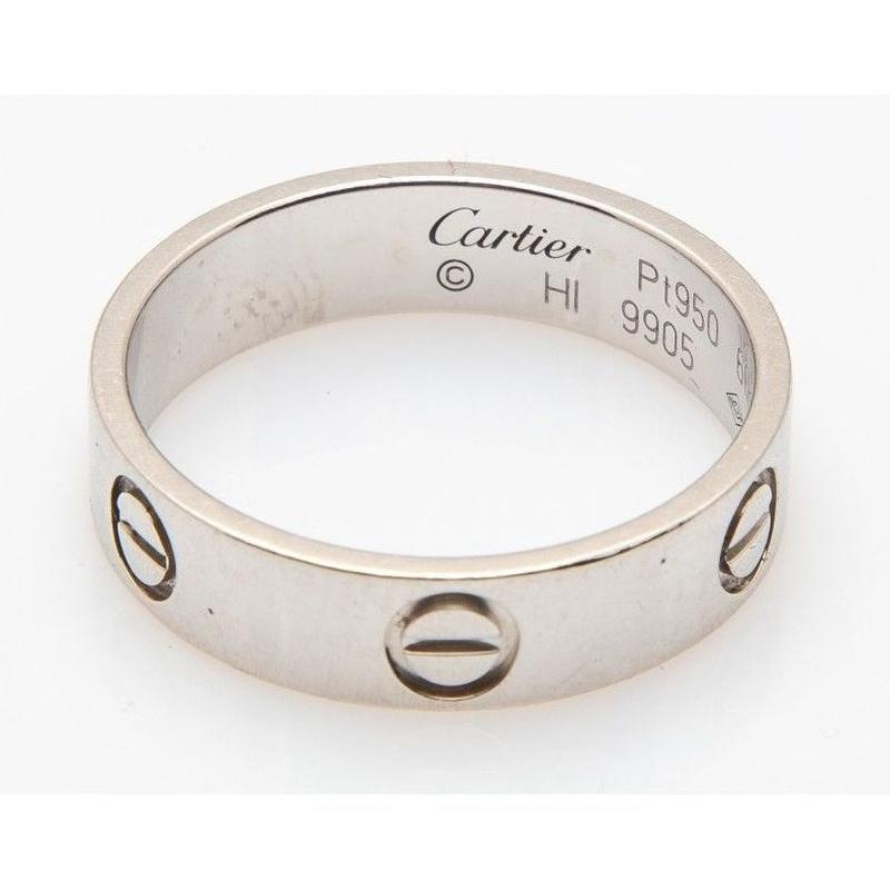 Sortija de platino Cartier