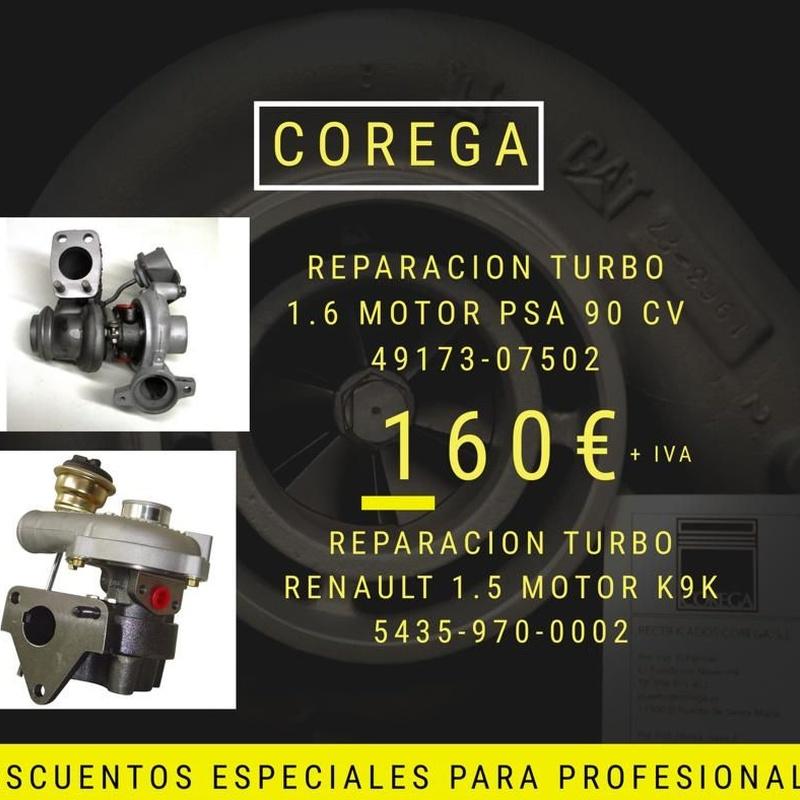 Descuento: Reparación turbo 1.6 PSA 90 CV: Servicios de Turbo Inyección Corega