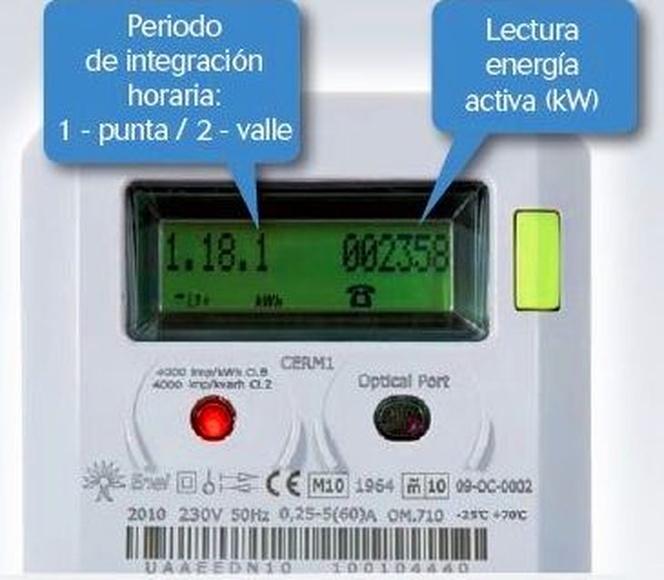 Contadores eléctricos que permiten discriminación horaria y telegestión en Toledo