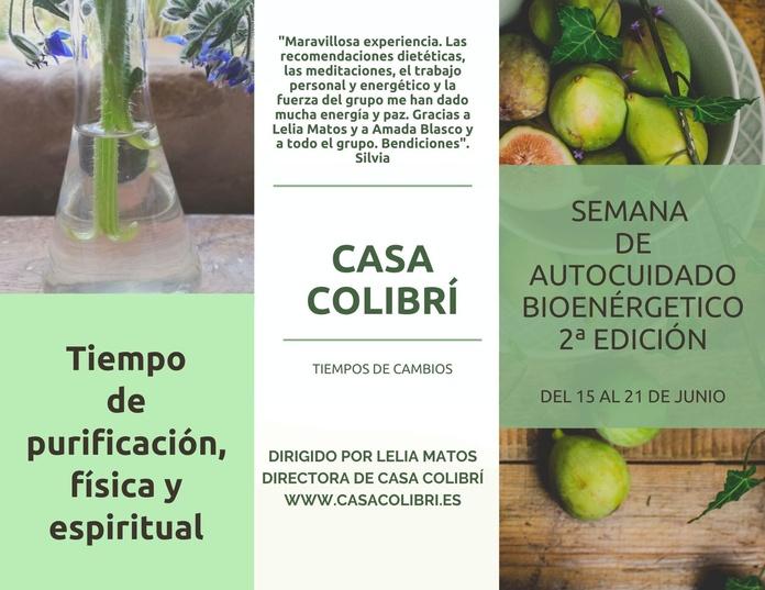 Semana de autocuidado bioenergético 2ª Edición. Taller Online