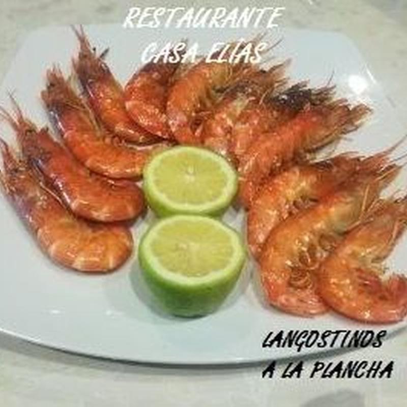 LANGOSTINOS PLANCHA