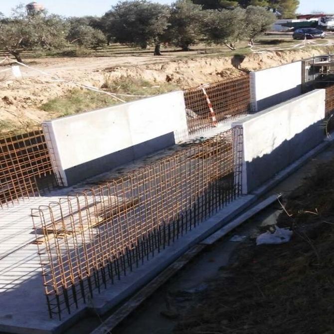 Diferentes tipos de muros de contención