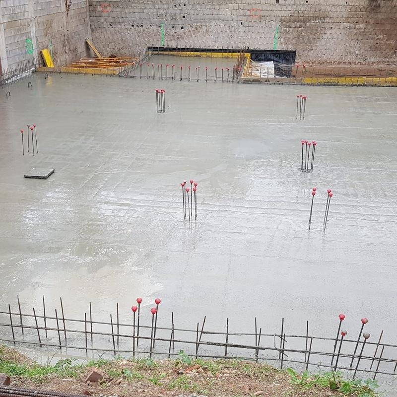 Losa cimentación de hormigón en Canals Valencia