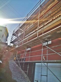 Rehabilitaciones de fachada con andamio multidireccional
