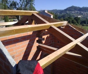 Estructura de madera en cubierta