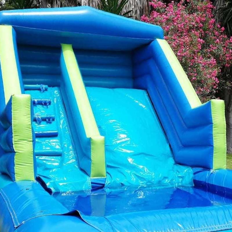 Tobogán acuático con piscina : Catálogo de Hinchables Happy Jump