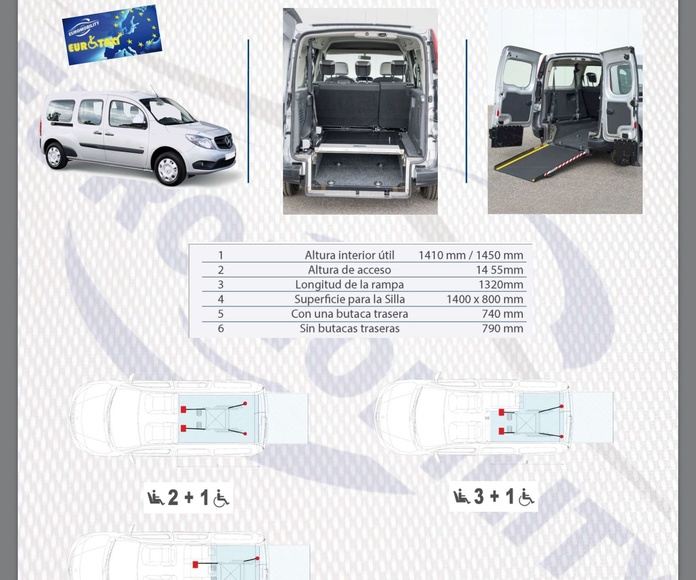 Adaptación de vehículos Asturias rebaje de piso Mercedes Citán