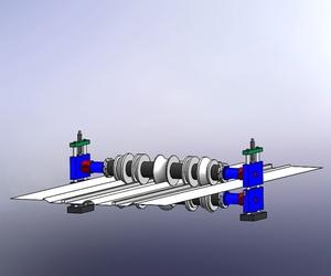 Una visualización de un proyecto de máquina que va doblar chapa
