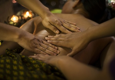 Masaje stimulos a 4 manos