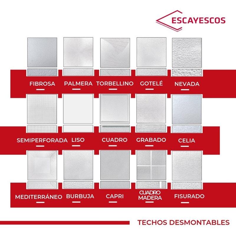 Techos desmontables Escayesos: Nuestros productos de Placa Depot, S.L.