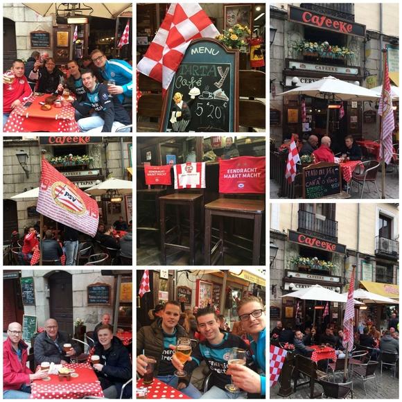 Aficionados del PSV en Madrid